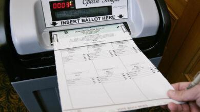 машина за броене на гласове избори
